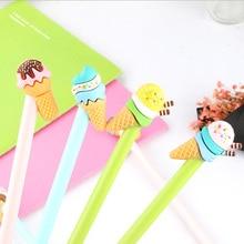 4 pcs/lot kawaii Creative cute Ice cream cone pen student study gel Office school stationery Supplies Neutral