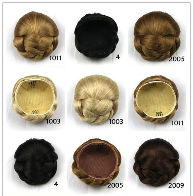 1pcs Womens Synthetic Fake Hair Bun Wig Chignons Roller Hepburn Hairpiece Clip Buns Tou Chignon Free Shipping
