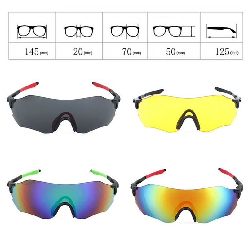 Polarized Cycling Eyewear Safty Googles Glasses Bicycle Sunglasses Frame Bike Sunglasses Riding Protection Cycling Goggles