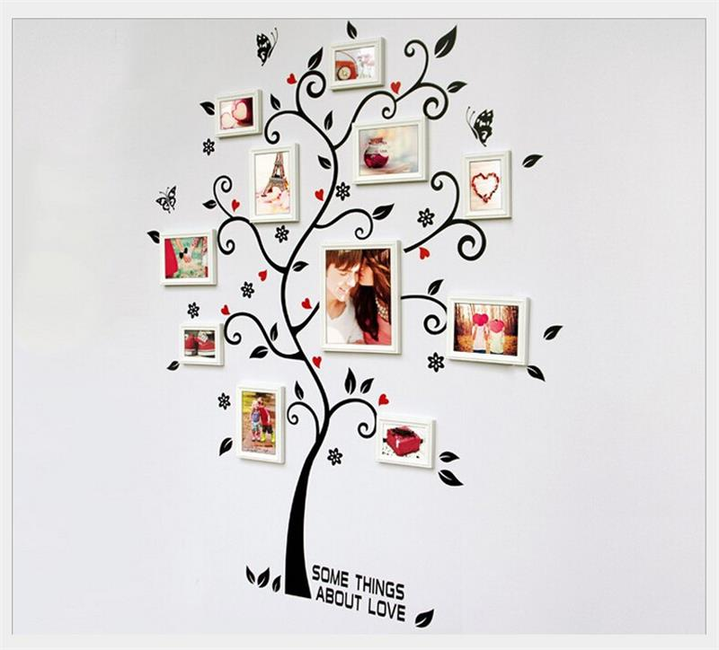 Fotos familie baum wandaufkleber zitate wohnzimmer dekorationen diy ...