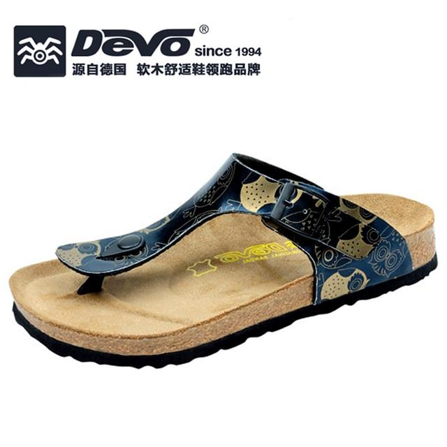eca968b3dd8c30 Devo fashion trendy women summer cork slippers lady PU flip flops female  casual sandals