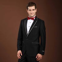 Groom Wedding Suit Boys Prom Suits Slim Men Suits tuxedo jacket men Plaid Collar Stage Clothing Formal Wear costume homme 2017