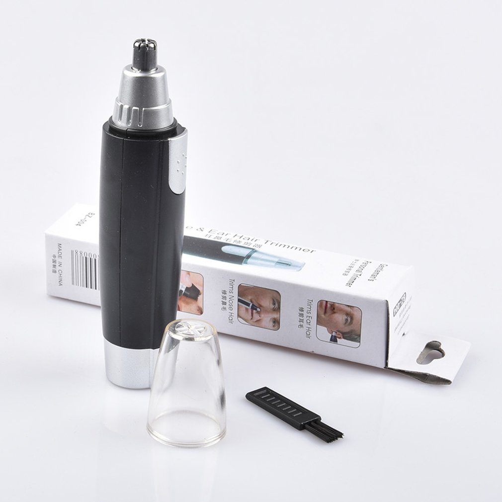 Portable Electric Nose Hair Trimmer Nose Clipper Battery Powered Razor Ear Hair Removal Face Care Shaving Razor For Men