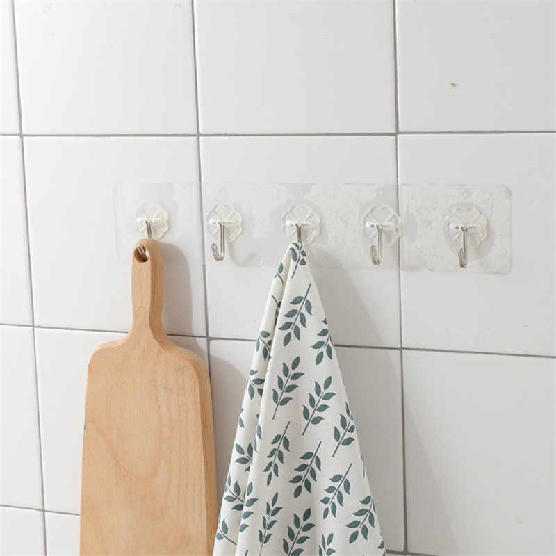 ドロップ配送新耐荷重 10 キロシームレス粘着フック防水透明な強力なスティックフックキッチン浴室の壁ハンガー