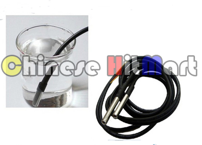 HoBiMart 10pcs/lot Waterproof Digital Temperature Temp Sensor Probe DS18B20 Waterproof For Thermometer 1m Free Shipping #J063-1