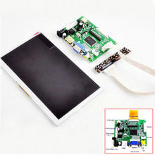 7 inch LCD Screen Display Monitor + Driver Board Kit for Raspberry Pi HDMI/VGA/VA(China (Mainland))