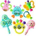 Baby rattle toys малыша музыкальные детские toys детские Пластиковые Рук Jingle Встряхивания bell новорожденные развивающие Ребенка hochet enfant 2016