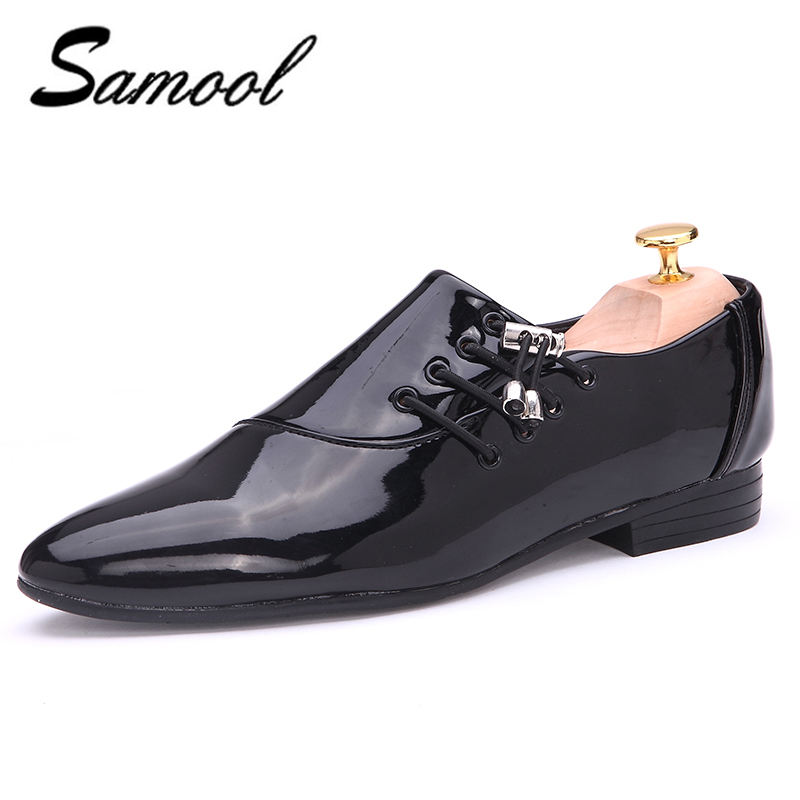 Mens Shoes Dress glossy white flat wedding shoes patent leather casual black luxury brand Italy brand oxfords shoes for men xxz5 fashion top brand italian designer mens wedding shoes men polish patent leather luxury dress shoes man flats for business 2016