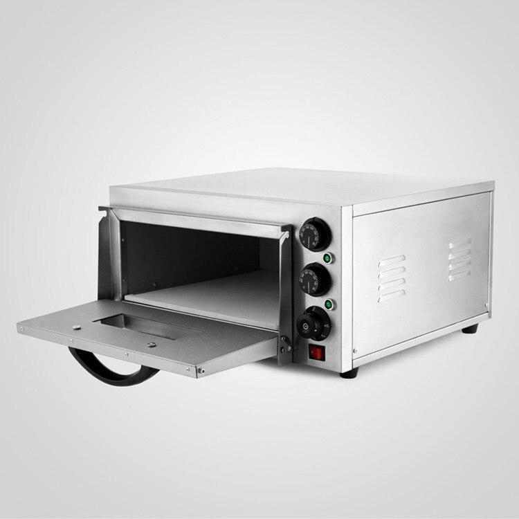 Duplo Rotary Maçanetas Modern Design Forno de Pizza Deck Single 2kW Cozimento Elétrica Comercial - 1