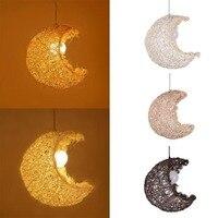 Moon rattan lamp ceiling pendant lamp LED chandelier home decor