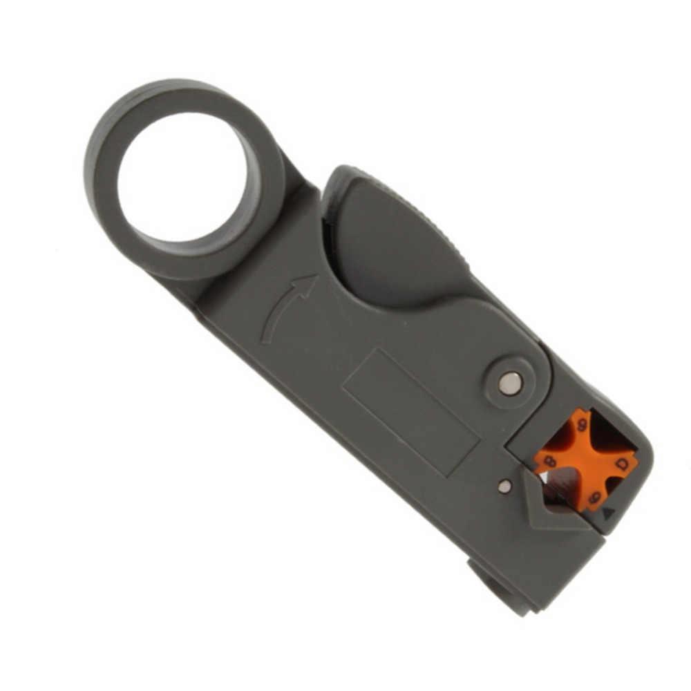 Новые Домашние тапочки инструмент многофункциональный поворотный коаксиальный кабель, кусочки инструмент RG58 RG59 RG6 Высокая ударная Материал инструмент для зачистки проводов