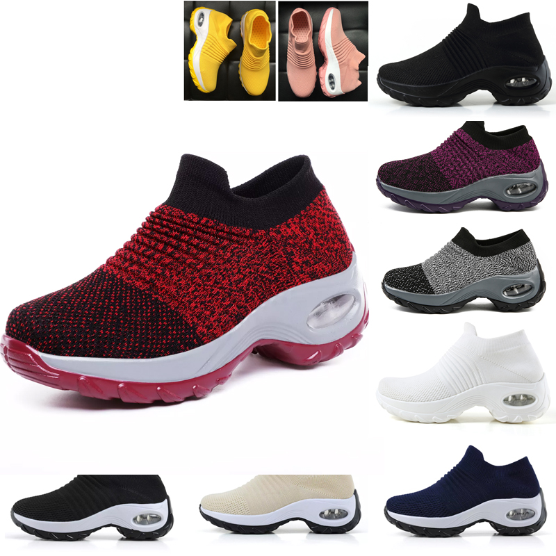 Big Size 35-42 Woman Breathable Basket Homme Sock Shoes Walking Sports Shoes Wedge Sneakers For Ladies Girl Trainer