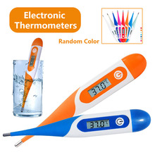 Soft Head  LCD Thermometer Deep Waterproof Adult Children Baby Electronic Mouth Underarm Body Temperature