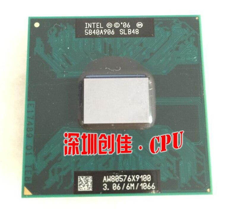 Shipping free Laptop cpu processor Intel original CPU X9100 SLB48 X 9100 SLB48 3.06G/6M/1066 PM45 GM45 P9700