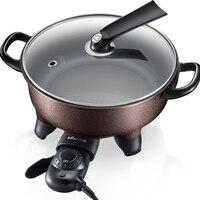 220 В Электрический Hot Pot Многофункциональный Электрический сковорода с антипригарным 5 Шестерни Управление Электрический Пособия по кулина