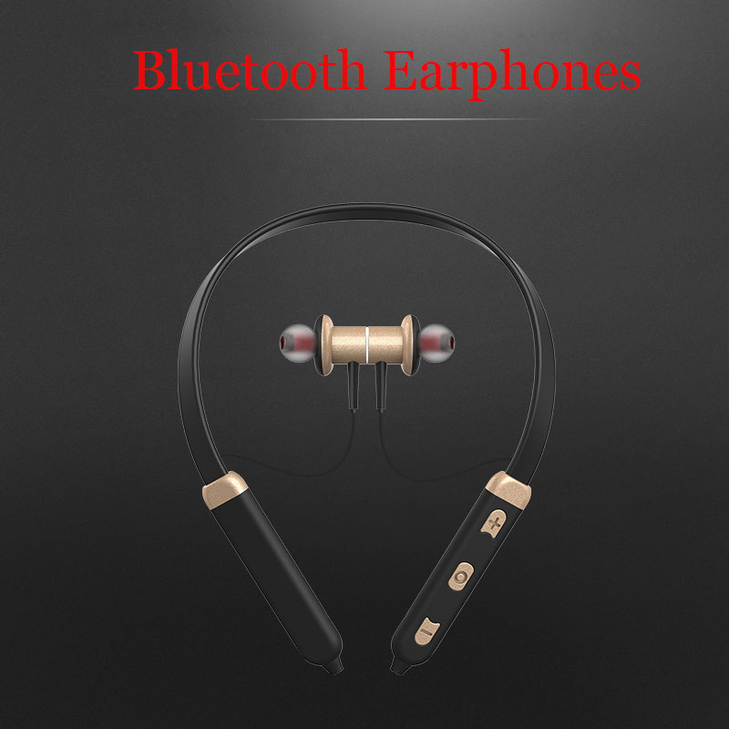 Hot Wireless Neckband Bluetooth Headset Sweatproof Sports Earphones Headphone with Mic Bass Earphone for Samsung iphone xiaomi