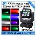 8 шт./RGBW 4in1 9X10 Вт moving head Matrix light, dmx512 луч света/перемещение головы свет stgae профессиональное dj-оборудование