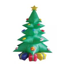 Géant en plein air gonflables De Noël décoration arbre avec Cadeaux boîte et Étoiles