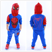 Spiderman Children Boys Suits Clothing Baby Boy Spider man Sports set 2-6 Years Kids 2pcs Sets Spring Autumn Clothes Tracksuits