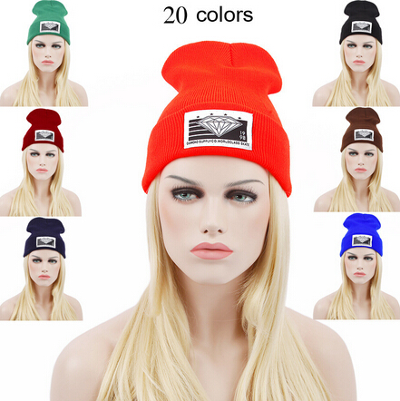 1pcs,2015 New Harajuku Men Women Beanie Knitted Hat Winter Warm Letters knitting Hats Hip Hop Cap Skullies Sports Ski Hat woman warm letters fukk knitted hats winter hip hop beanie hat cap chapeu gorros de lana touca casquette cappelli bonnets rx112