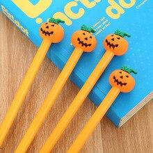 Stationery Kawaii Pen Pumpkin-Gel-Pens School-Supplies Novelty Black Student New 1pcs