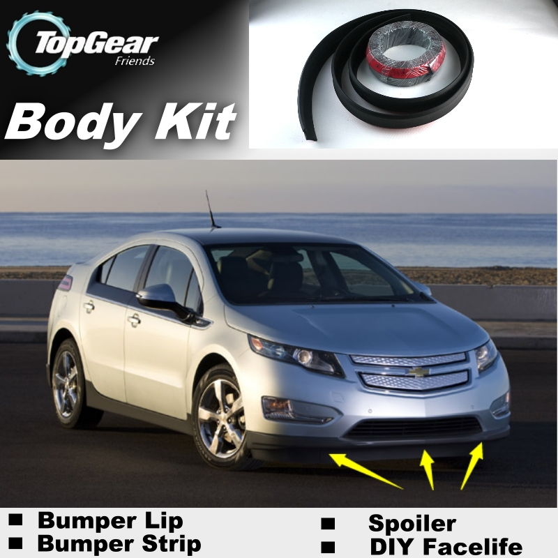 Bumper Lip Lips For Chevrolet Volt 2011~2015 / Top Gear Shop Spoiler For Car Tuning / TOPGEAR Recommend Body Kit + Strip