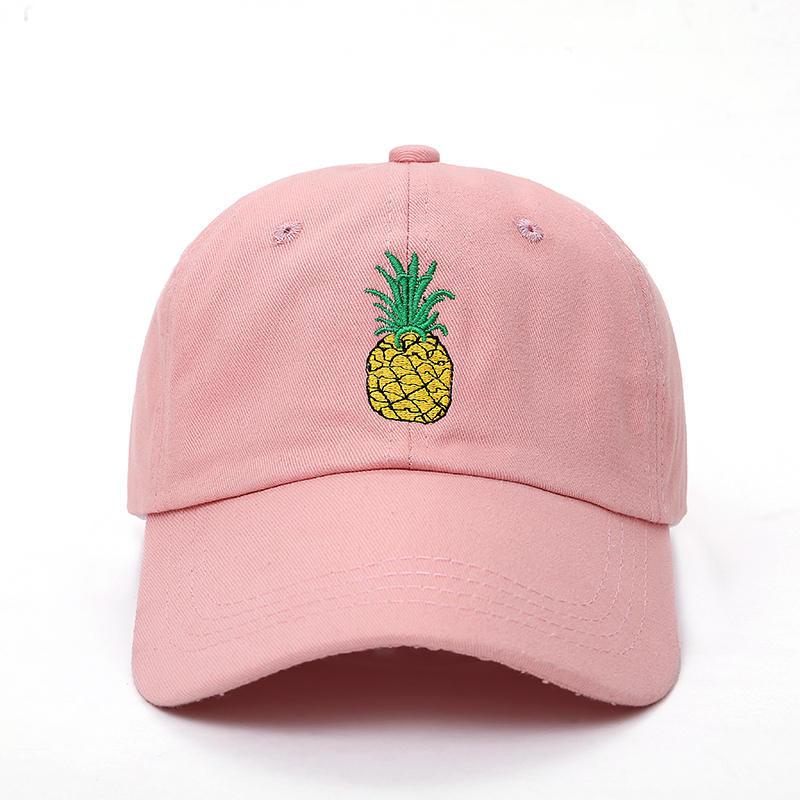 Men Women Pineapple Dad Hat   Baseball     Cap   Cotton Style Unconstructed Fashion Unisex Dad   Cap   Hats Bone Garros