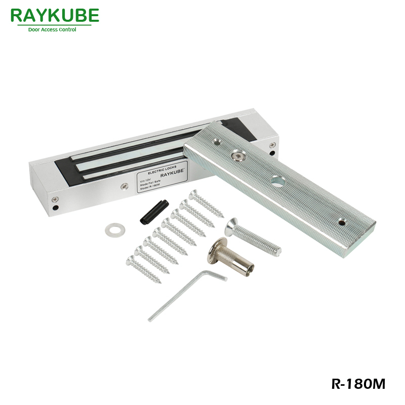 RAYKUBE Electric Magnetic Door Lock 180KG 390LB For Door Access Control System R-180M title hbwrf 180 lb