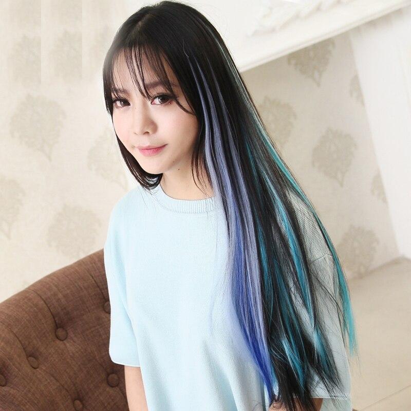 Синтетические волосы цветные полоски длинные прямые одинарный зажим в одной части волосы для наращивания термостойкие женские волосы штук-in Женские аксессуары для волос from Одежда аксессуары on Aliexpress.com   Alibaba Group