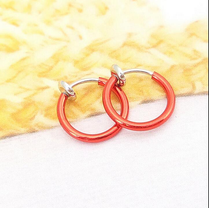 HTB1sgyeJFXXXXXsXpXXq6xXFXXXF 3-in-1 Two Pieces Clip On Hoop Nose Lip Ear Rings - 10 Colors