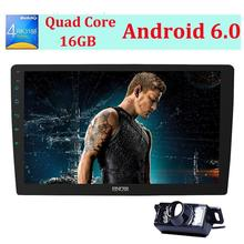 """Free camera + Android 6.0 Car Radio Stereo 10.1"""" Double Din Head Unit Support GPS Navigation ,Bluetooth ,OBD ,Mirror Link,WIFI"""