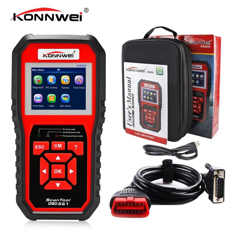 KONNWEI KW850 Auto Diagnostic Scanner Universal Obd2 Car Diagnostic Tool Automotive Car Code Reader Scanner Programmer