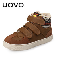 2017UOVO Fall Children Shoes Boys And Girls Sneakers 3 Hooks And Kids Shoes High Quality Sports