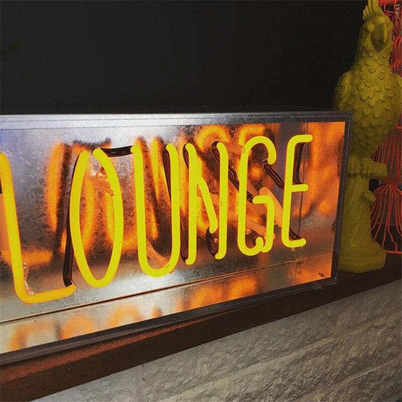 Nouveau métal boîte salon Bar néon signe Tube lumière vrai verre Tube artisanat KTV Pub lampe personnalisée lampe éclairage AC 220 V 230 V 110 V - 3