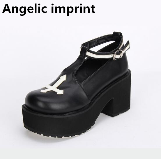 Angelic imprint mori girl lolita shoes woman cosplay shoes lady super high heels wedges Pumps women