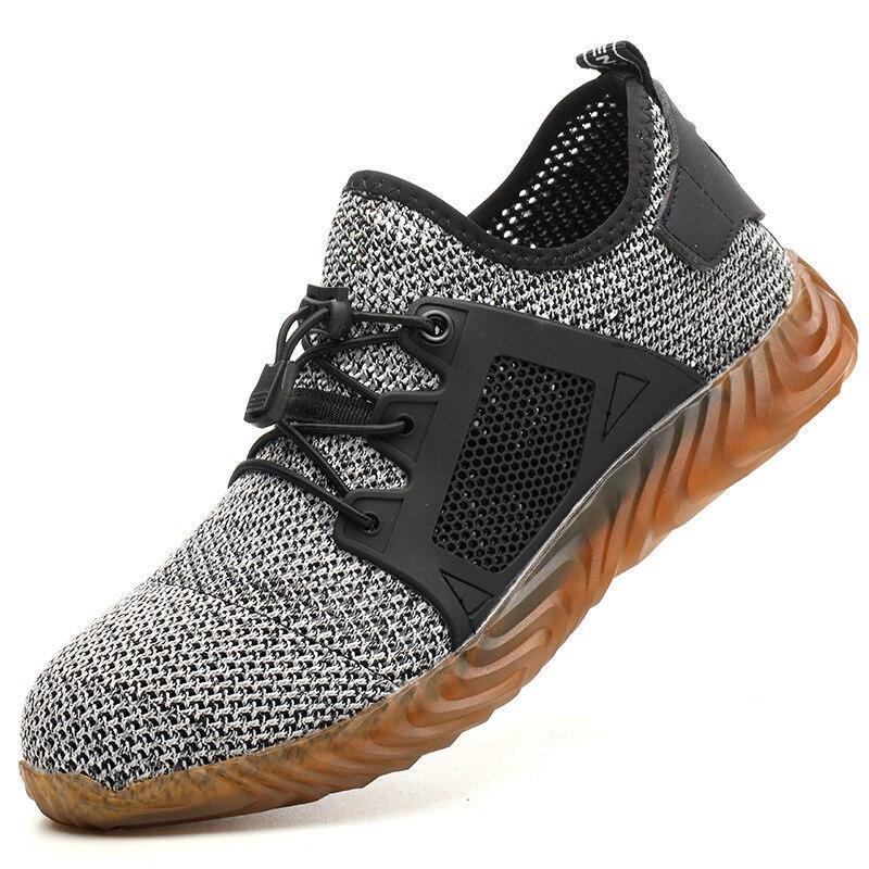 Livraison directe hommes et femmes acier orteil Air sécurité bottes indestructibles Ryder chaussures anti-crevaison travail Sneakers chaussures respirantes