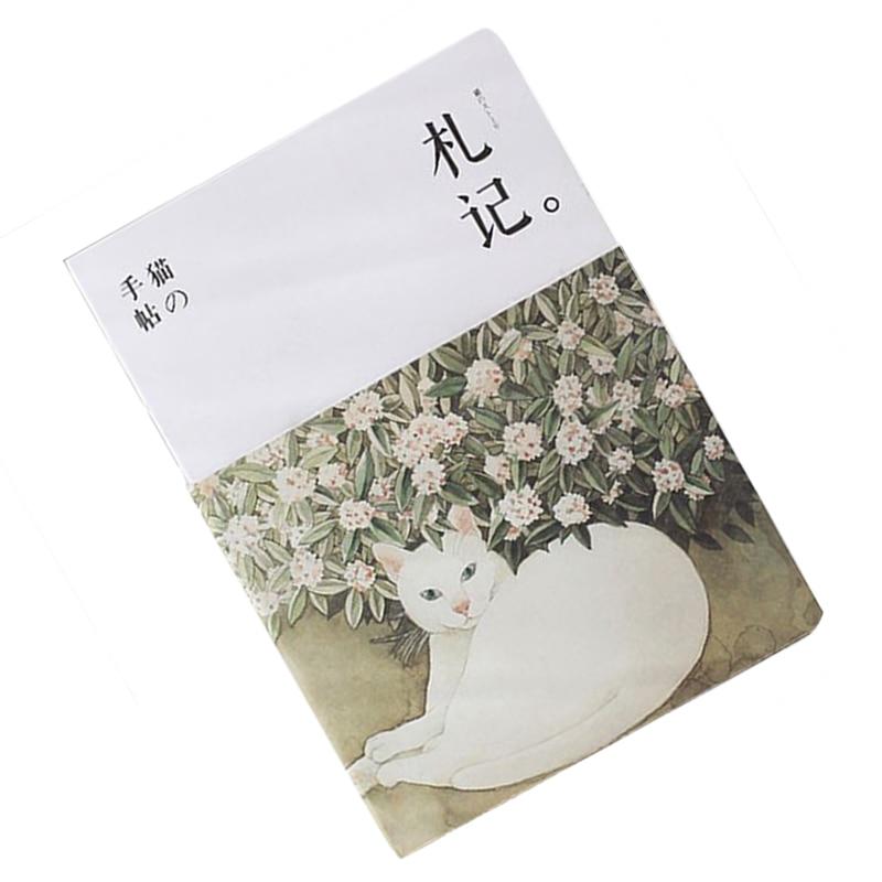 все цены на Blank Vintage Sketchbook Diary Drawing Painting 80 sheet Cute Cat Notebook paper Sketch School Supplies Gift онлайн