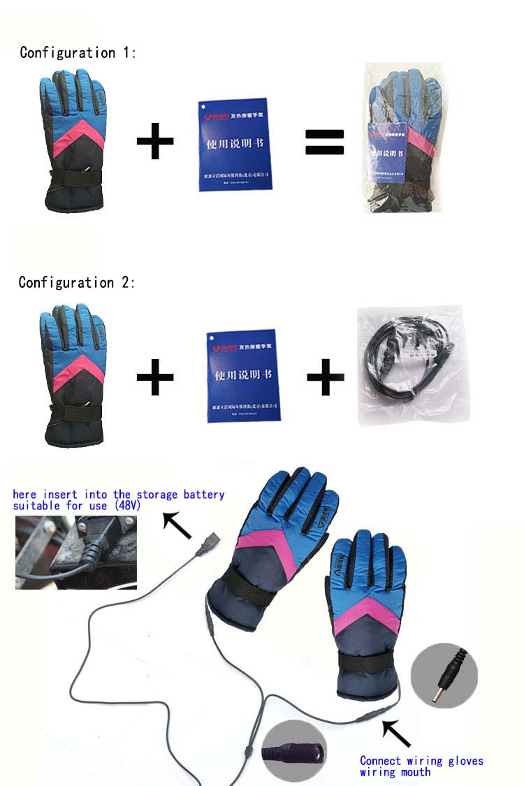 GLV840 new winter outdoor font b gloves b font storage battery charging electric warming font b