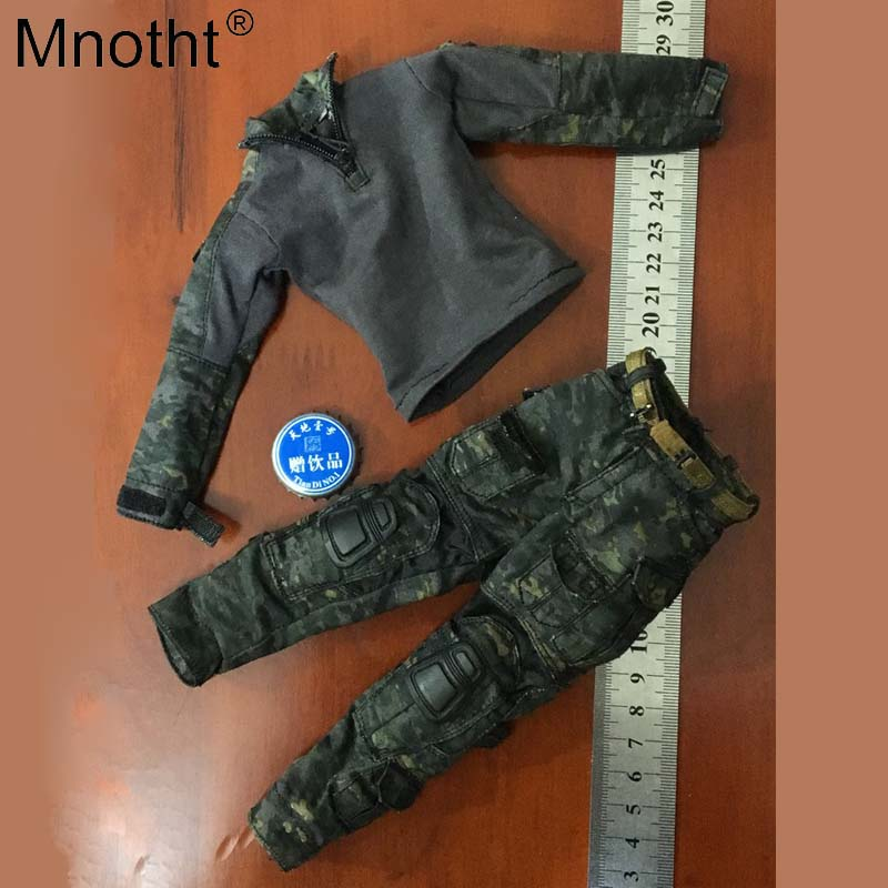 Mnotht 1/6 scale 78044 B FBI SWAT Uniformed camouflage Agent clothes model toy for 12'' soldier action figure collection m3n цена