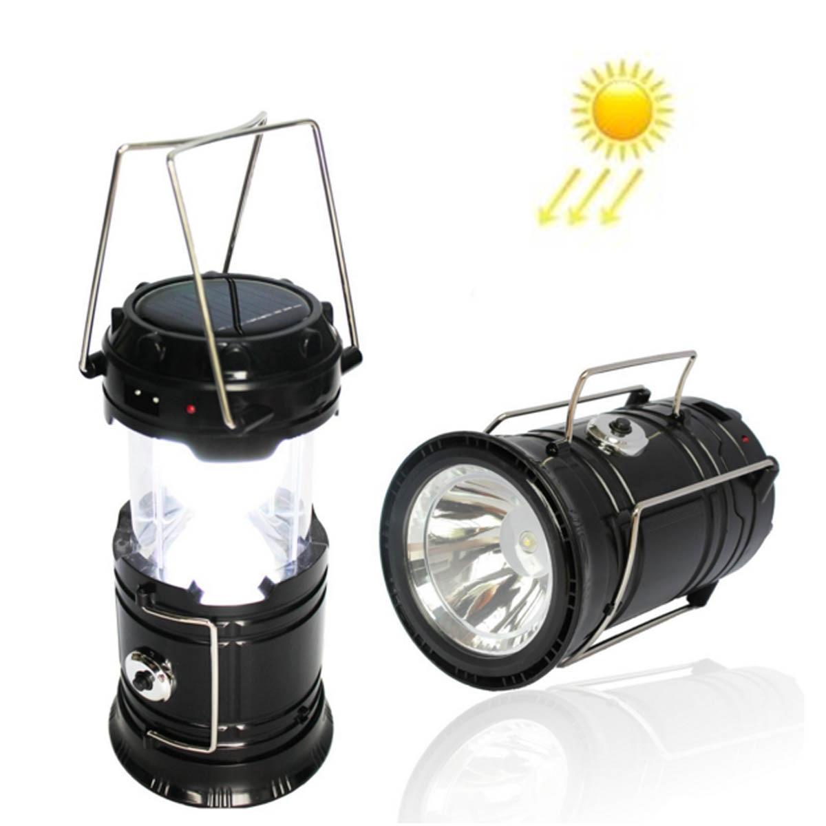 Camping Outdoor Light Lantern Retractable Folding Led Tent Flashlight Lamp UK