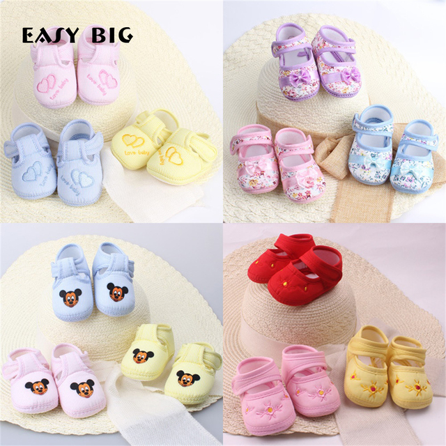 Classic Baby Shoes Girls Sneakers Newborn Baby Boys First Walkers Shoes Infant Toddler Soft Sole Anti-slip Baby Shoes NR0040