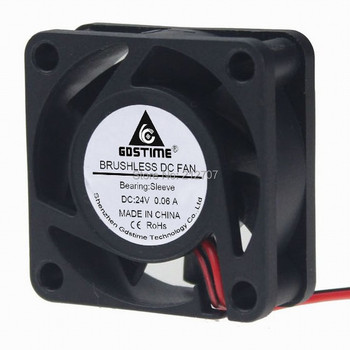 500Pcs/Lot Gdstime 4015 DC 24V 2 Pin 4cm 40mm 40x40x15mm Mini Cooler Cooling Fan 50pcs gdstime dc 24v 40mm 40x40x15mm 2 pin server square axial cooling cooler fan