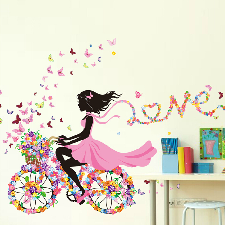 Buy diy wall stickers home decor pink for Diy princess room ideas