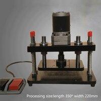 Nieuwe 110-220 V 200 W Elektrische Vergroot Editie Stansmachine Druk Lederen Afvlakking Machine EVA PVC Die- snijmachine (350*220mm)