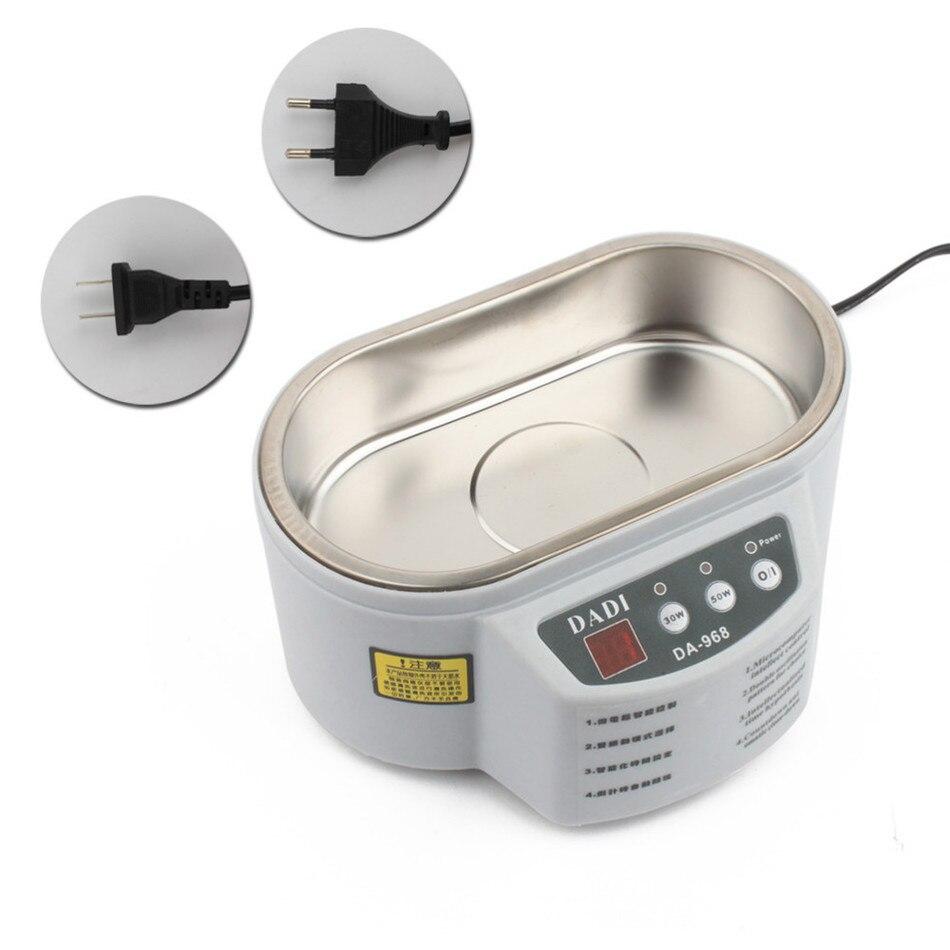 30W/50W Adjustable Mini Ultrasonic Cleaner For Cleanning Jewelry Watch Glasses 220V/110V DA-968 30w 220v 110v mini ultrasonic cleaner bath for cleanning jewelry watch glasses circuit board limpiador ultrasonico
