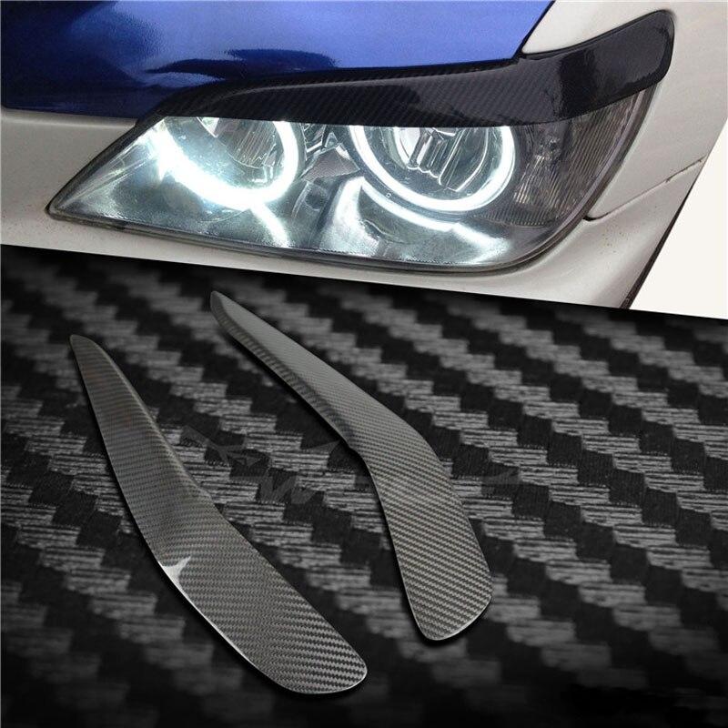Autocollant de garniture de paupière de sourcils de couverture de phare de Fiber de carbone pour Lexus IS200 2006-2008