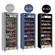 10-nivel 9 división de estantes de zapato de tela no tejida organizador  duradero zapato espacio de Rack de ahorro estante de alm. 3bb4b4c937ed