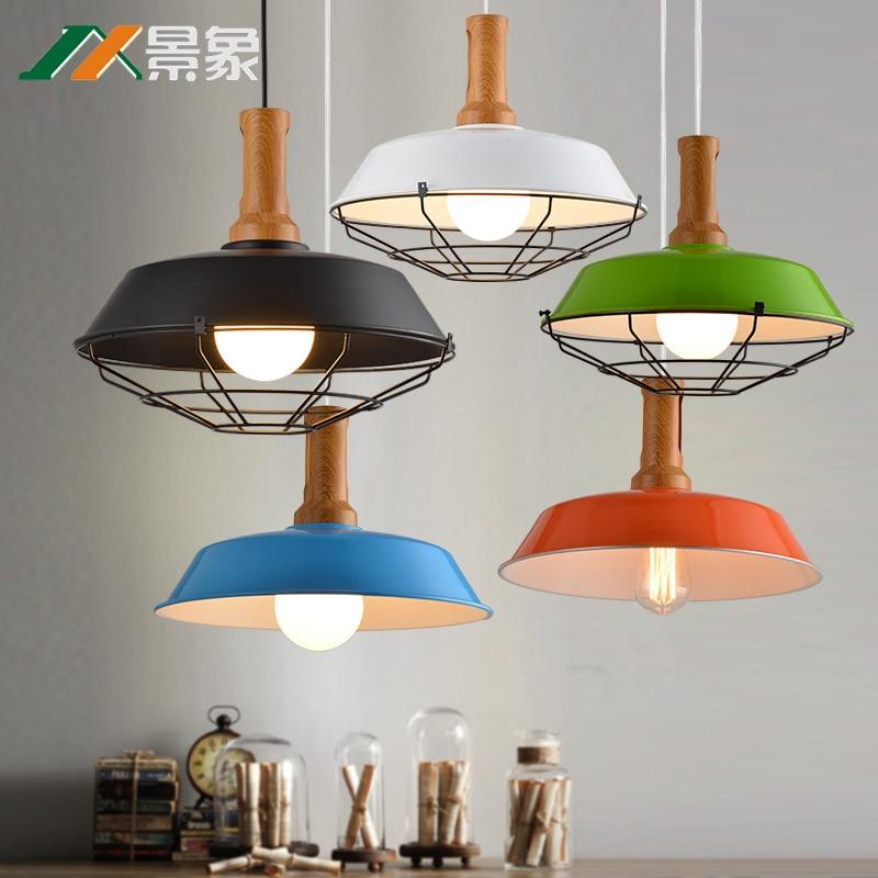 North American-style rural modern minimalist chandeliers restaurant industrial wind three single creative wrought iron bar table