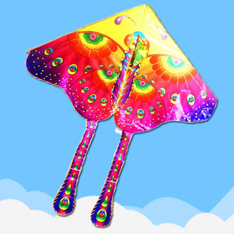 Высокое качество Павлин бабочка воздушный змей 10 шт./лот красивый популярный воздушный змей завод быстрый сервис с ручкой Открытый игрушки