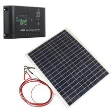 12V 20W Solar Panel Semi-flexible with 10A 12V 24V Charger Controller PolycrystallineSunpower Panel Solar for RV Car